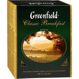 Чай Гринфилд классич. завтрак 100 пак.