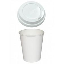Кофейные стаканы с крышкой (50 шт)