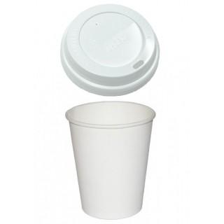 Кофейные стаканы с крышкой (100 шт)
